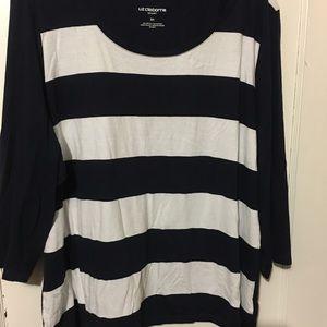 Plus-Size Liz Claiborne three-quarter t-shirt